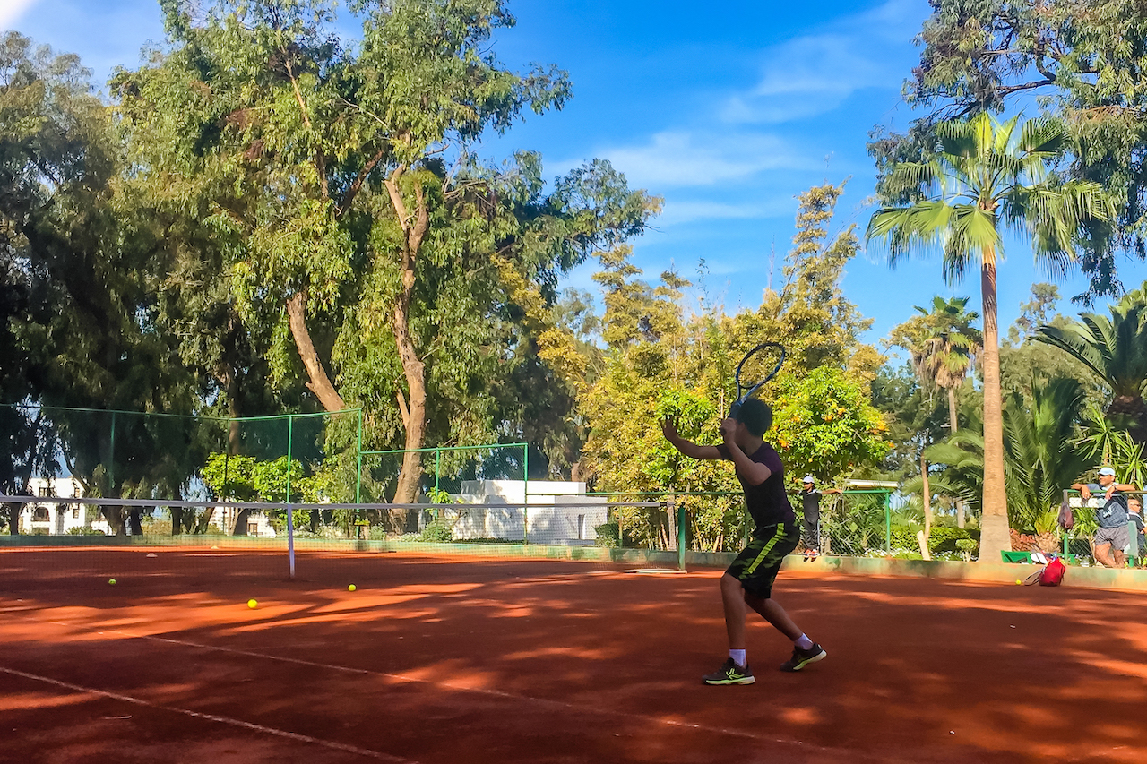 red clay courts Agadir