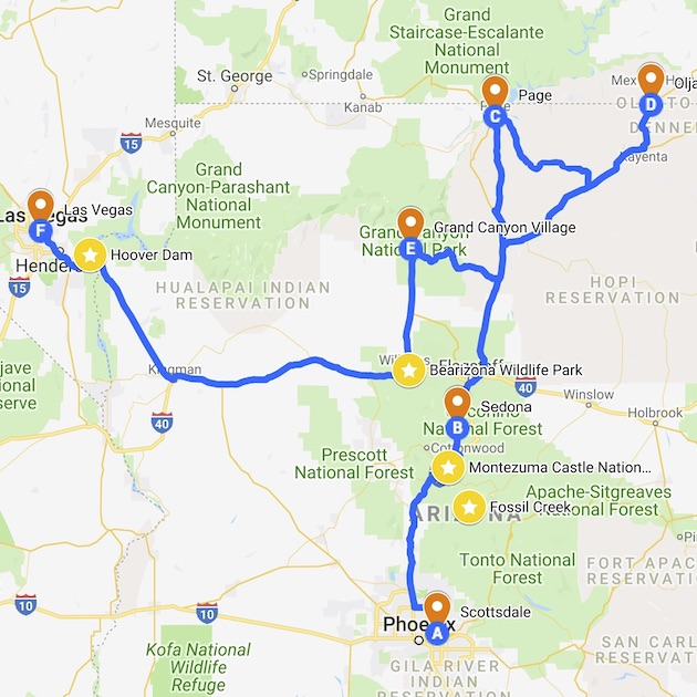 1-week Arizona itinerary